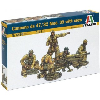 Model Kit military 6490 - Cannone da 47/32 Mod.39 with crew (1:35)