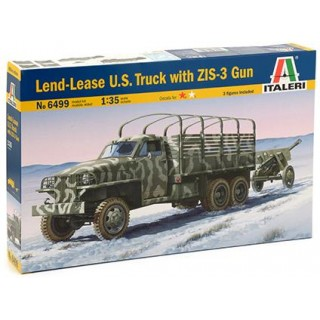 Model Kit military 6499 - LAND LEASE U.S. TRUCK & ZIS-3 GUN (1:35)