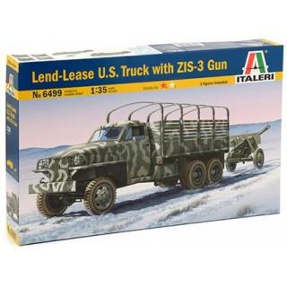 Model Kit military 6499 - LAND LEASE U.S. TRUCK & ZIS-3 GUN (1:35)