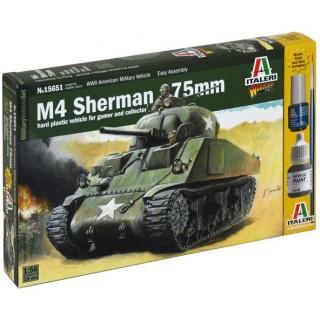Wargames tank 15651 - M4 SHERMAN 75mm (1:56)