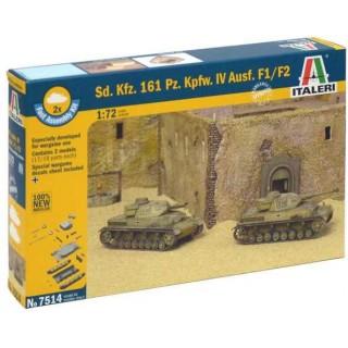 Fast Assembly tanky 7514 - Sd.Kfz.161 Pz.Kpfw.IV Ausf. F1/F2 (1:72)