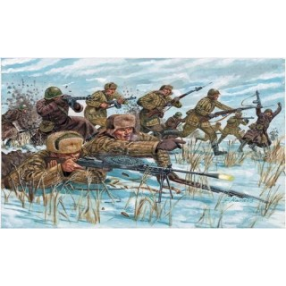 Model Kit figurky 6069 - WWII -RUSSIAN INFANTRY (WINTER UNIF) (1:72)
