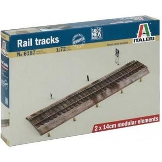 Model Kit doplňky 6167 - RAIL TRACKS (1:72)
