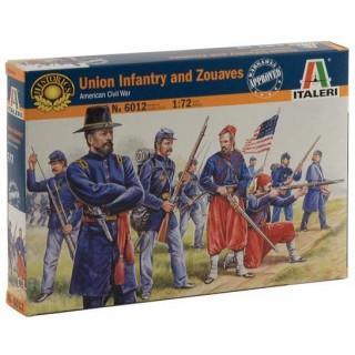 Model Kit figurky 6012 - UNION INFANTRY / ZUAVES (AMERICAN CIVIL WAR) (1:72)