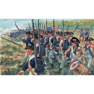Model Kit figurky 6060 - AMERICAN INFANTRY (AM.INDEP.WARS 1776 ) (1:72)