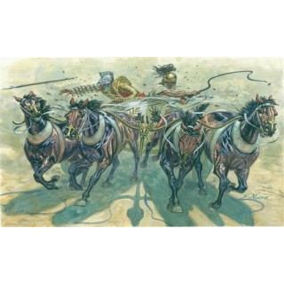 Model Kit figurky 6874 - GLADIATORS WITH QUADRIGA (1:32)