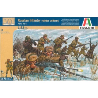 Model Kit figurky 6876 - WWII RUSSIAN INFANTRY (WINTER UNIFORMS) (1:32)