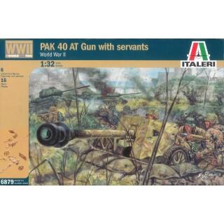 Model Kit figurky 6879 - WWII PAK 40 AT GUN with crew (1:32)