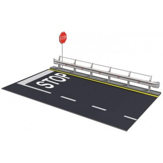 Model Kit doplňky 3864 - GUARD RAIL and ROAD SECTION FOR DISPLAY (1:24)