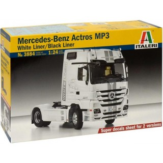 "Model Kit truck 3884 - MERCEDES-BENZ ACTROS Mp3 ""BLACKLINER"" White Liner (1:24)"