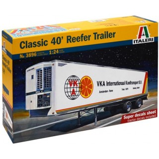 Model Kit návěs 3896 - CLASSIC 40 Ft. REEFER TRAILER (1:24)