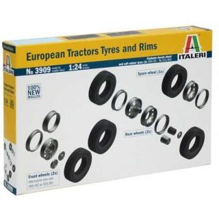 Model Kit doplňky 3909 - EUROPEAN TYRES and RIMS (1:24)