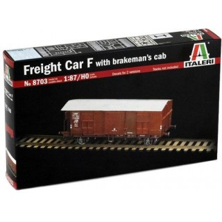 Model Kit vagon 8703 - FREIGHT CAR F with BRAKEMAN'S CAB (1:87 / HO)