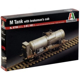 Model Kit vagon 8706 - M TANK CAR WITH BRAKEMAN'S CAB (1:87 / HO)