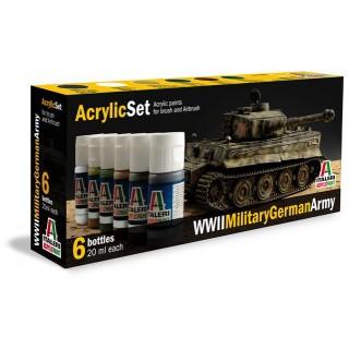 Sada akrylových barev 433AP - WWII Military German Army 6 ks
