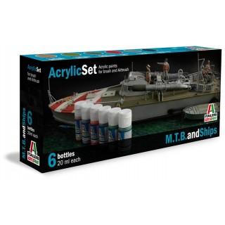 Sada akrylových barev 434AP - M.T.B. and SHIPS 6 ks