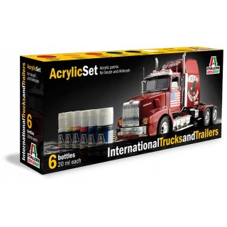 Sada akrylových barev 435AP - INTERNATIONAL TRUCKS & TRAILERS 6 ks