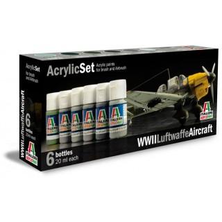 Sada akrylových barev 436AP - WWII LUFTWAFFE AIRCRAFT 6 ks