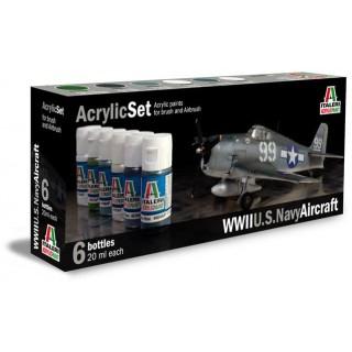 Sada akrylových barev 439AP - WWII U.S. NAVY AIRCRAFT 6 ks
