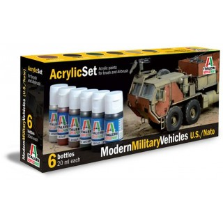 Sada akrylových barev 442AP - MODERN MILITARY VEHICLES (U.S./N.A.T.O.) 6 ks