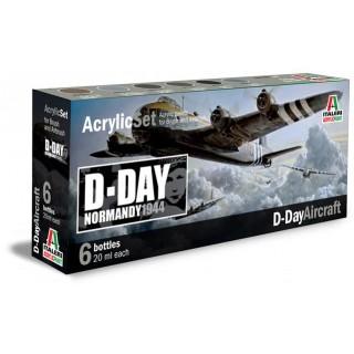 Sada akrylových barev 445AP - D-DAY AIRCRAFT 6 ks