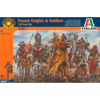 Model Kit figurky 6860 - 100 YEARS WAR-FRENCH KNIGHTS & S (1:32)