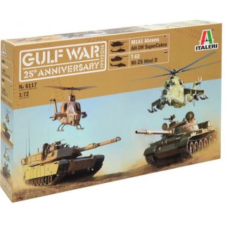 Model Kit tanky a vrtulníky 6117 - GULF WAR COMBO BOX (1:72)