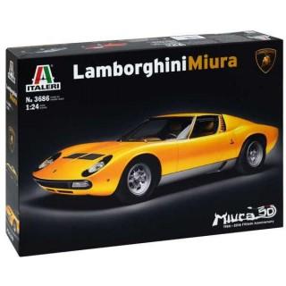 Model Kit auto 3686 - LAMBORGHINI MIURA (1:24)