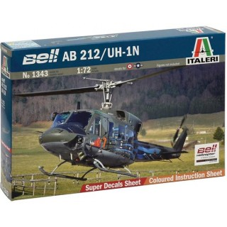 Model Kit vrtulník 1343 - AB.212 / UH.1N (1:72)