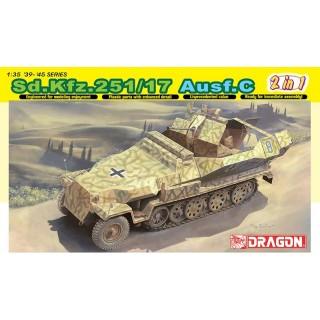 Model Kit military 6592 - SD. KFZ. 251/17 AUSF.C/COMMAND VERSION (1:35)