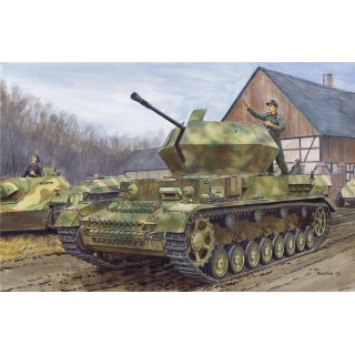 "Model Kit military 6746 - 3.7cm FLAK 43 FLAKPANZER IV ""OSTWIND"" w/ZIMMERIT (1:35)"