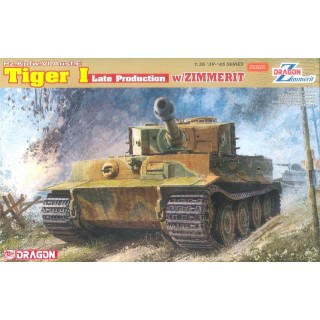 Model Kit tank 6383 - Pz.Kpfw.VI Ausf.E TIGER I LATE PRODUCTION w/ZIMMERIT (1:35)