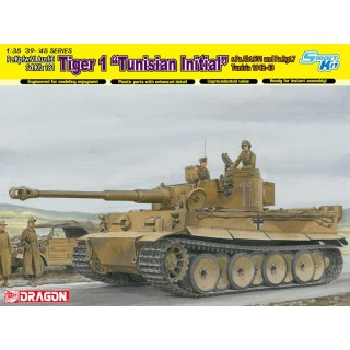"Model Kit tank 6608 - TIGER I INITIAL PRODUCTION ""TUNISIAN INIT.TIGER"" (1:35)"