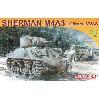 Model Kit tank 7274 - SHERMAN M4A3 105mm (1:72)