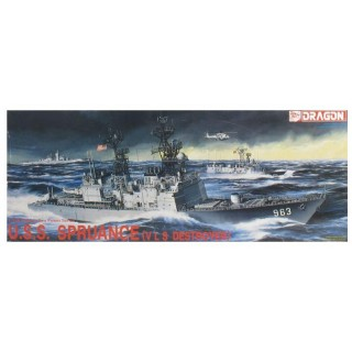Model Kit loď 1006 - U.S.S. SPRUANCE (V L S DESTROYER) (1:350)