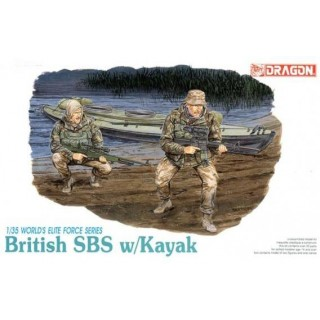 Model Kit figurky 3023 - BRITISH SBS w/KAYAK (1:35)