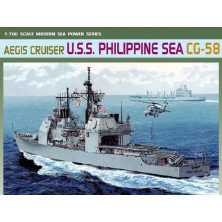Model Kit loď 7045 - AEGIS CRUISER U.S.S. PHILIPPINE SEA CG-58 (1:700)
