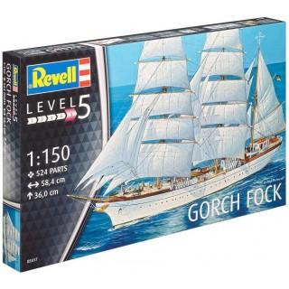Plastic ModelKit loď 05417 - Gorch Fock (1:150)
