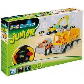 Autíčko REVELL 23003 JUNIOR - Tow Loader with excavator - 40 MHz