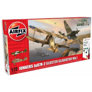 Gift Set letadlo A50179 - JUNKERS JU87R-2/GLOSTER GLADIATOR Mk.I DOG FIGHT DOUBLE (1:72)