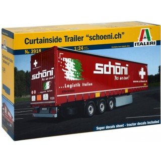 Model Kit návěs 3918 - Curtainside Trailer (1:24)