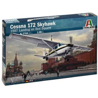 Model Kit letadlo 2764 - CESSNA 172 SKYHAWK - 1987 Landing on Red Square (1:48)