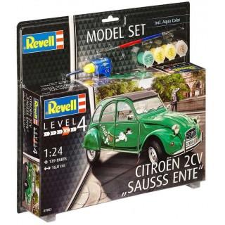 """ModelSet auto 67053 - Citroën 2CV """"Sauss Ente"""" (1:24)"""