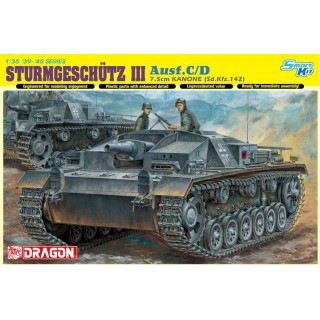 Model Kit tank 6851 - STURMGESCHÜTZ 7.5cm KANONE (Sd.Kfz.142) Ausf.C/D (Smart Kit) 1:35