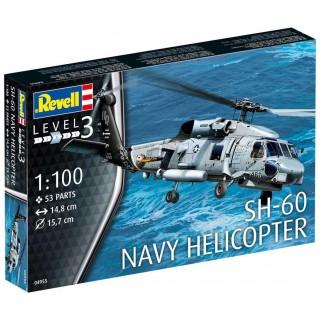 Plastic ModelKit vrtulník 04955 - SH-60 Navy Helicopter (1:100)