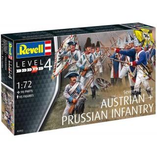 Plastic ModelKit figurky 02452 - Seven Years War (Austrian & Prussian Infantry) (1:72)
