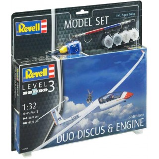 ModelSet letadlo 63961 -  Gliderplane DUO DISCUS & ENGINE (1:32)