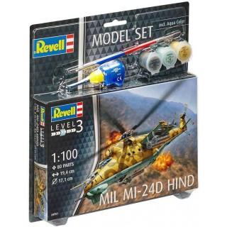 ModelSet vrtulník 64951 -  Mil Mi-24D Hind (1:100)