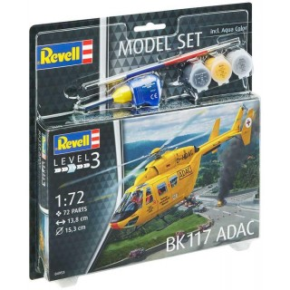 ModelSet vrtulník 64953 -  BK-117 ADAC (1:72)