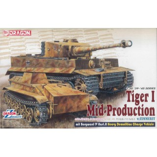 Model Kit tank 6866 - Pz.Kpfw.VI Ausf.E Tiger I Mid Production Remote Controller mit Borgward Ausf.A Heavy Demolition Vehicle s.
